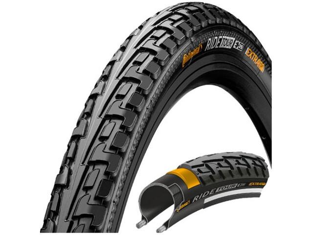 "Continental Ride Tour Clincher Tyre 27 x 1 3/8 x 1 1/2"", black/black"